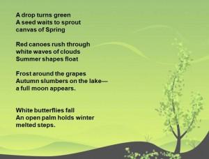 Anna poems for seasons