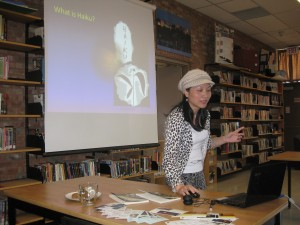 POET VISITS DURING NATIONAL POETRY MONTH