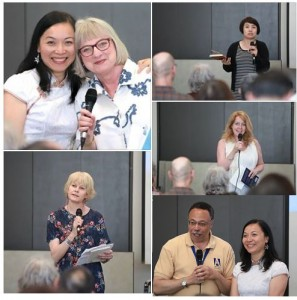 at Chinese and Canadian Poets reading event, photo by ShiYing