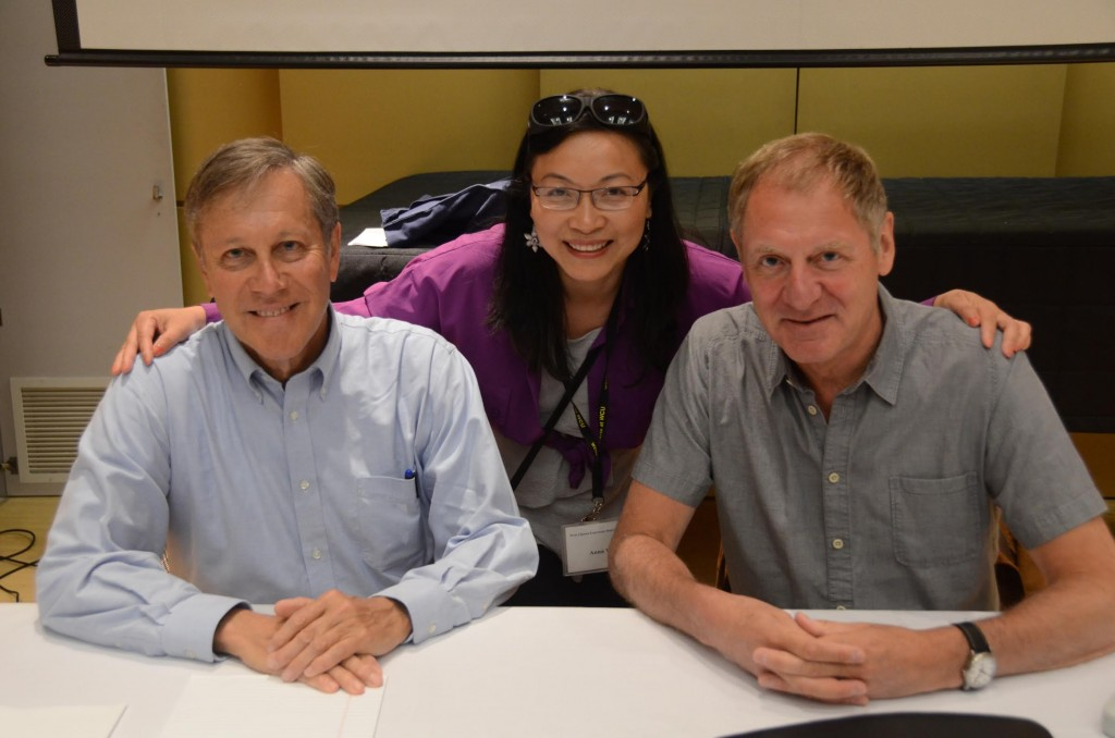 2016 West Chester Poetry Conference, with Sir Andrew Motion and Dana Gioia, photo by Gerry Cambridge