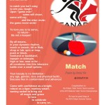 Match: a poem for Table Tennis by Anna Yin