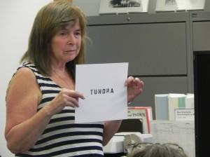 Claudia Radmore teaching haiku-s