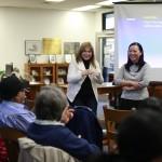 Claudia and Anna host haiku workshop